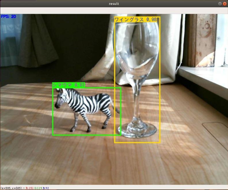 YOLO認識画像の例